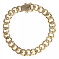 18CT GOLD CURB LINK BRACELET at Ross's Auctions