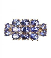 10CT GOLD TANZANITE AND DIAMOND RING at Ross's Jewellery Auctions
