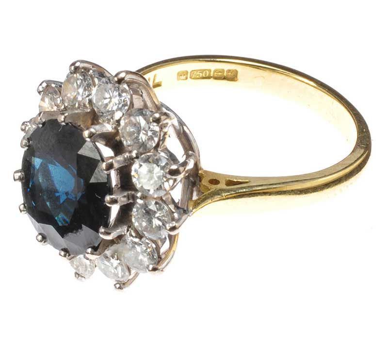 Ross Auction Sapphire Ring