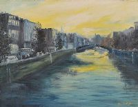 THE RIVER LIFFEY, DUBLIN by Elsie Sheridan at Ross's Auctions