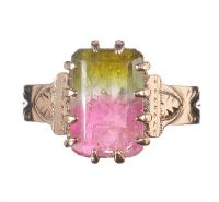9CT GOLD AND BI-COLOUR TOURMALINE RING by Tourmaline at Ross's Auctions