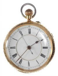 18CT GOLD GENT'S POCKET WATCH by Pocket & Fob Watches at Ross's Auctions