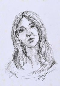 FEMALE PORTRAIT by Lynda Moffett at Ross's Auctions