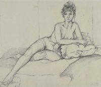 NUDE OF LEAH by Lynda Moffett at Ross's Auctions