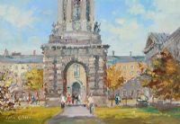 THE CAMPANILE, TRINITY COLLEGE, DUBLIN by Colin Gibson at Ross's Auctions
