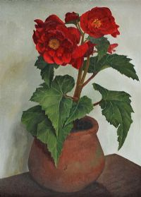 VASE OF FLOWERS by John Skelton at Ross's Auctions