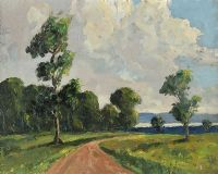 ROAD TO LOUGH NEAGH by William Jackson at Ross's Auctions