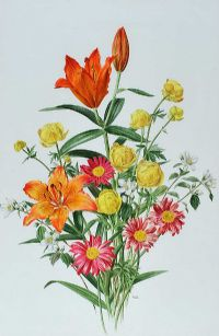 FLOWER BOUQUET II by Anne Marie Trechslin at Ross's Auctions