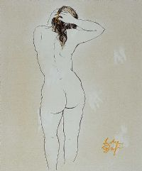 NUDE STUDY by Andre Bagi at Ross's Auctions