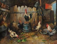 PECKING ORDER by Kenneth Webb RUA at Ross's Auctions