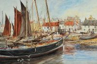 ST MONANCE HARBOUR by Charles McEwen at Ross's Auctions