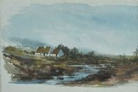 THATCHED COTTAGE by J. Tomkins at Ross's Auctions
