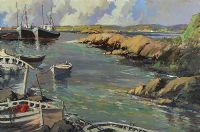 OLD BURTONPORT HARBOUR, DONEGAL by George K. Gillespie at Ross's Auctions