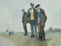 RETIRED FISHERMEN by James McConnell at Ross's Auctions