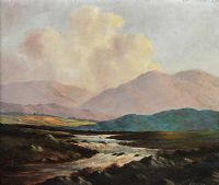 RIVER AND BOGLANDS, CONNEMARA by Douglas Alexander RHA at Ross's Auctions