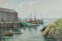 BURTONPORT, DONEGAL by Frank McKelvey RHA RUA at Ross's Auctions