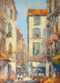 STREET SCENE, PROVENCE, FRANCE by Colin Gibson at Ross's Auctions