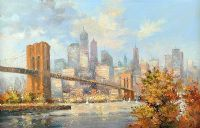 BROOKLYN BRIDGE, NEW YORK by Colin Gibson at Ross's Auctions