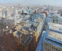 NORTH EAST FROM WINDSOR HOUSE, BELFAST by Colin Davidson RUA