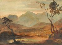 SHEEP AND LANDSCAPE by Copley Fielding at Ross's Auctions