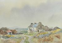 OLD FARMHOUSE, FALCARRAGH, DONEGAL by James McConnell at Ross's Auctions