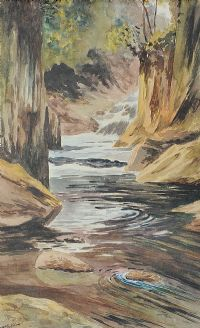 RIVER & ROCKS by William McGuffin at Ross's Auctions