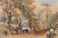 TREES BY A RIVER by William Bingham McGuinness RHA at Ross's Auctions
