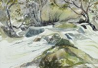 THE TRASSEY RIVER, THE MOURNE MOUNTAINS by Sheelagh Boucher at Ross's Auctions