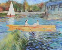 BOATING ON THE LAKE by Russian School at Ross's Auctions