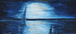 NIGHT SAILING II by Marion Collett at Ross's Auctions