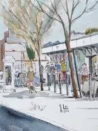 MOORE STREET MARKET, DUBLIN by Pete Hogan at Ross's Auctions