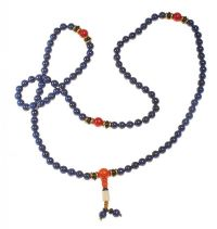 STRAND OF LAPIS LAZULI PRAYER BEADS at Ross's Jewellery Auctions