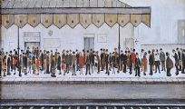 PENDLEBURY RAILWAY PLATFORM by Laurence Stephen Lowry RA at Ross's Auctions