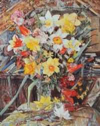 SPRING FLOWERS IN MY ATTIC by Jo Alexander at Ross's Auctions