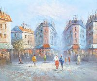 PARIS STREET SCENE by Burnett at Ross's Auctions