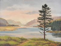 LOUGH VEAGH, DONEGAL by Frank Hargy at Ross's Auctions