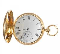 18CT GOLD FULL HUNTER POCKET WATCH BEARING THE INITIALS WDA by Pocket & Fob Watches at Ross's Auctions