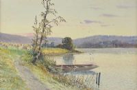 BOAT ON THE LOUGH by M. Jackson at Ross's Auctions