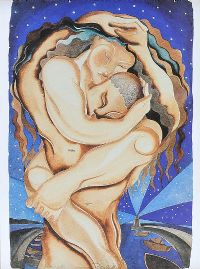 LOVERS & STARS by Pauline Bewick RHA at Ross's Auctions