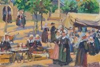 BRETON MARKET by Charles Vincent Lamb at Ross's Auctions