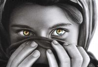 GIRL WITH HAZEL EYES by Eastern School at Ross's Auctions