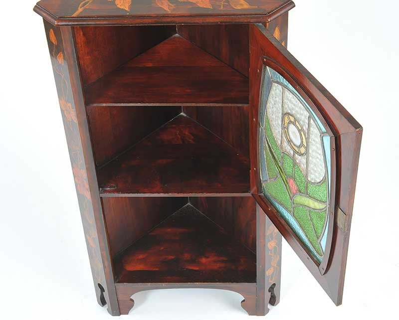 art deco corner table art nouveau corner cabinet