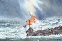 PORTRUSH LIFE BOAT by Danny Todd at Ross's Auctions