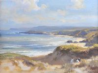PICNIC AT SANDHILL by Frank McKelvey RHA RUA at Ross's Auctions