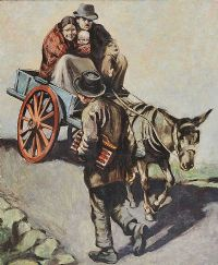 THE DONKEY CART by William Conor RHA RUA at Ross's Auctions