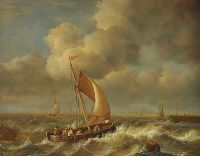 ROUGH SEAS by Jean Laurent at Ross's Auctions
