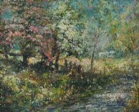 RIVER BY AN ORCHARD by Slater at Ross's Auctions