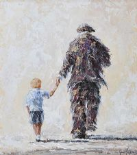 A WALK WITH GRANDA by Gavin Fitzsimons at Ross's Auctions