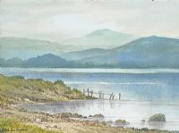 LOUGH REFLECTIONS by Keith Burtonshaw at Ross's Auctions
