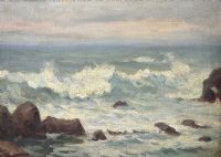 ON THE COAST, MALAHIDE by Irish School at Ross's Auctions